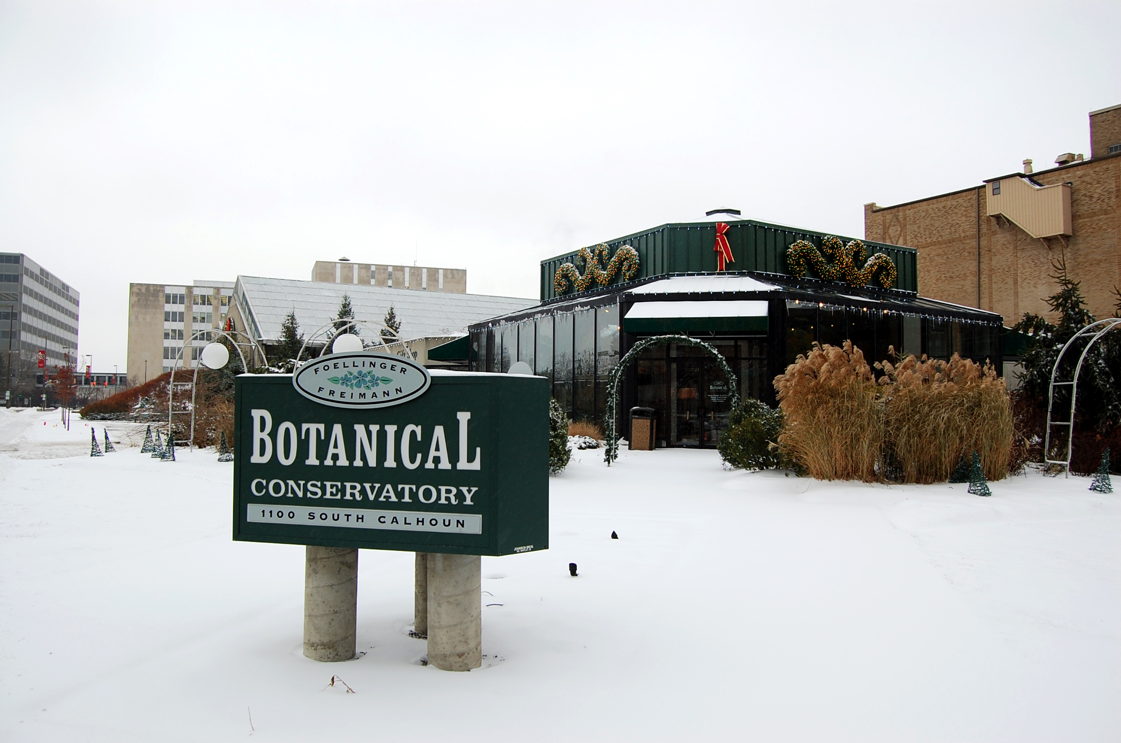 View of the Botanical Gardens from W Jefferson Blvd, Ft. Wayne, IN